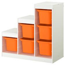 Storage Trofast Storage Combination White Orange 99x44x94 Cm Ikea