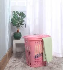 Pink Plastic Laundry Basket Amazing Plastic Pink Laundry Basket With Lid Pink Laundry Basket Pink