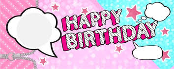 Lol Speech Bubbles Happy Birthday Pink And Blue Design Medium Personalised Banner 6ft X 2 25ft Partyrama Co Uk