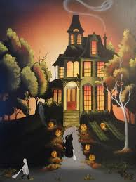 haunted house print by myeclecticmind1 on 15 00