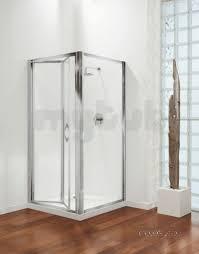 coram premier shower enclosures premier bifold door 760mm white plain glass door only