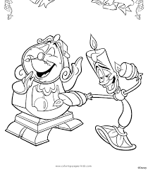 Beauty And The Beast Color Pages Free Coloring Pages