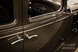 1933 Chevrolet Chevy Sedan Classic Car Door Handle In Sepia 3170