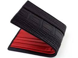 mens designer wallet sharkskin wallet