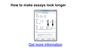 how to make essays look longer google docs