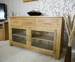 buffet cabinets with glass doors glass door sideboard large sideboard oak sideboard with glass