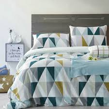 modern geometric duvet cover uk  geometric bedding sets uk
