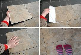 laying the vinyl tile