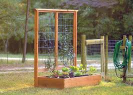 Small Picture How to Build a Raised Bed and Trellis HGTV
