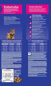 Eukanuba Large Breed Puppy Feeding Chart Eukanuba Puppy Dry Dog Food Chicken Small Breed 5 Lb Sprebiotic 10144128