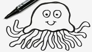 jellyfish drawing easy. Interesting Drawing How To Draw A Cartoon Jellyfish  Easy Doodle For Children 72 On Drawing O