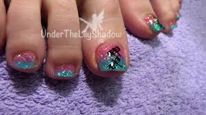 underthelilyshadow: Glitter Toes - Dragonfly