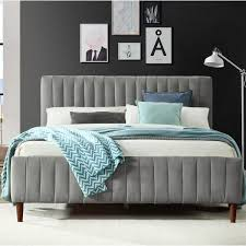 upholstered platform bed queen