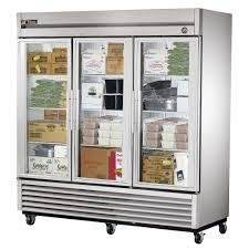 true t 72fg hc fgd01 78 13 three section reach in freezer 3 glass door 115v