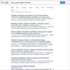 are the digital humanities and library information science the lis dh on google