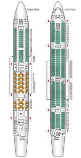 Emirates A380 Upper Deck Economy Seat Plan Best