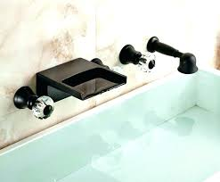 wall mounted tub faucets with hand shower wall mount bathtub faucet with hand shower wall mounted