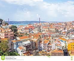 Vogelperspektive Von Lissabon, Die Hauptstadt Von Portugal Stockbild - Bild  von panorama, reise: 76256391