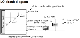 zener voltage protection of pnp open collector pull down photoelectric sensor input output circuit diagram