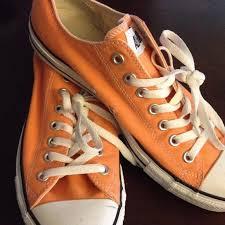 converse shoes orange. converse shoes - light orange low top r
