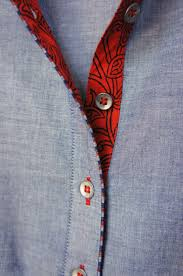 Piping Design On Clothes Shirt Inner Button Lining And Piping Idea Neck Designs