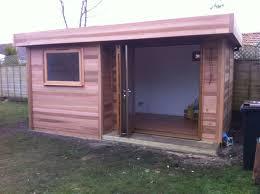 back garden office. Interesting Office 5m X 3m Garden Room In Cedar With A Set Back Trifold Door In Back Office 2