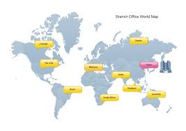Branch Office World Map Examples And Templates