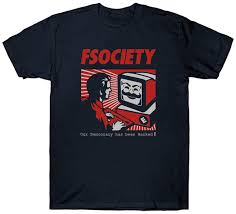 Fsociety T Shirt Our Democracy Has Been Hacked Hacker Vendetta Mask Anonymous T Shirt Men Classic White Short Sleeve Custom Plus Size Group T Shirt 1