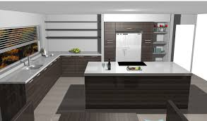 modern sleek kitchen design. ultra modern sleek kitchen design with built in wall units, silestone tops and island.