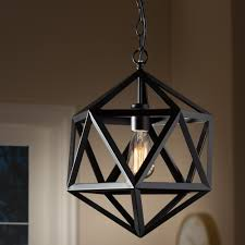 Cool Lighting Stores Contemporary Black Metal Geometric Pendant Light Ideas For
