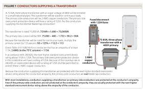 Transformer Chart Sizing Conductors Part Xxvi Electrical Contractor Magazine