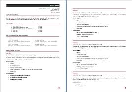 Australian Resume Template 5