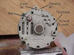 gm alternator from the factory 2 wire harness connect the black w white trace to the sence terminal s on a cs 2 on a si