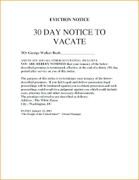 sle day notice to vacate eviction letter from landlord tenant ers at will form 30 template