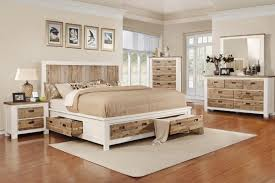 Western King Bed with Storage