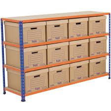 Medium Duty Storage Bay 12 Document Boxes