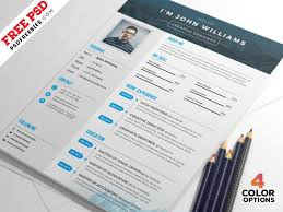 Free Resume Templates In Photoshop (Psd) Format - Creativebooster