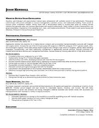 Medical Device Sales Resume Examples Free Resume Example And