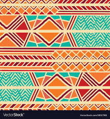 Bohemian Pattern Adorable Tribal Ethnic Colorful Bohemian Pattern Royalty Free Vector