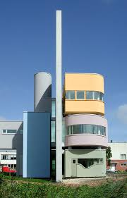Wall House II by American architect John Hejduk, located in Groningen, The  Netherlands