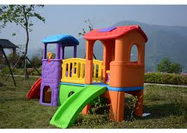 environmental plastic slide swing playhouse set outdoor toys for kids age 6 years