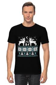 """заказать мужские футболки с необычными принтами """"<b>deer</b>"""""""