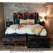 pallet king size bed king size pallet bed with side tables home design 15 frame w