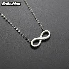 infinity necklace white gold. aliexpress.com : buy fashion infinity necklace women pendant rose gold color stainless steel chain collar jewelry wholesale from reliable white