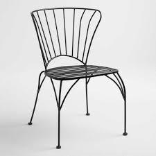 Black Metal Cadiz Outdoor <b>Stacking Chairs</b> Set of <b>2</b>   World Market