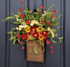 Basket Flower Decoration Door Baskets Etsy