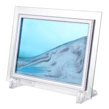 framed moving sand glass picture home office table