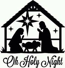 nativity silhouette printable. Nativity Silhouette Baby In Cradle For Printable