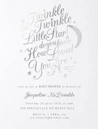 Twinkle Twinkle Metallic Baby Shower Invitations