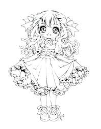 Cute Anime Coloring Pages Coloring For Babies Amvame